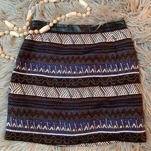 Tribal / boho pattern mini skirt